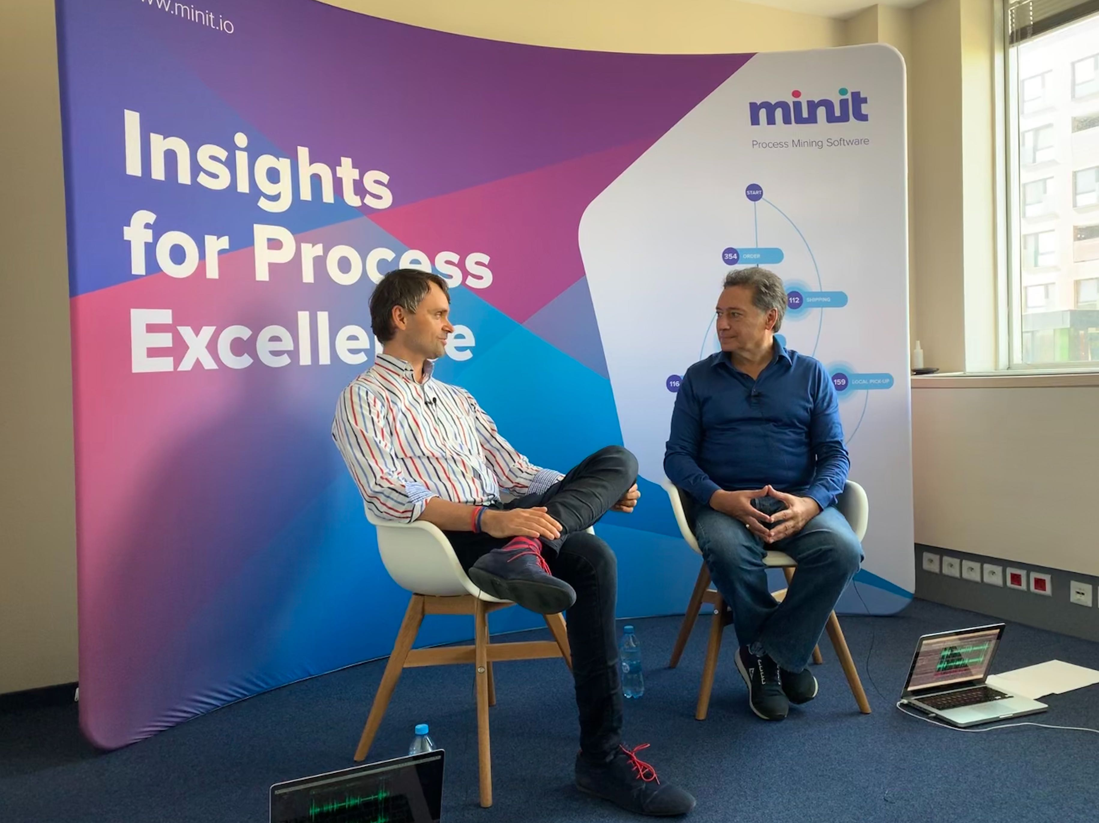 Minit CEO Rasto Hlavac (left) in the interview with Christian Morales