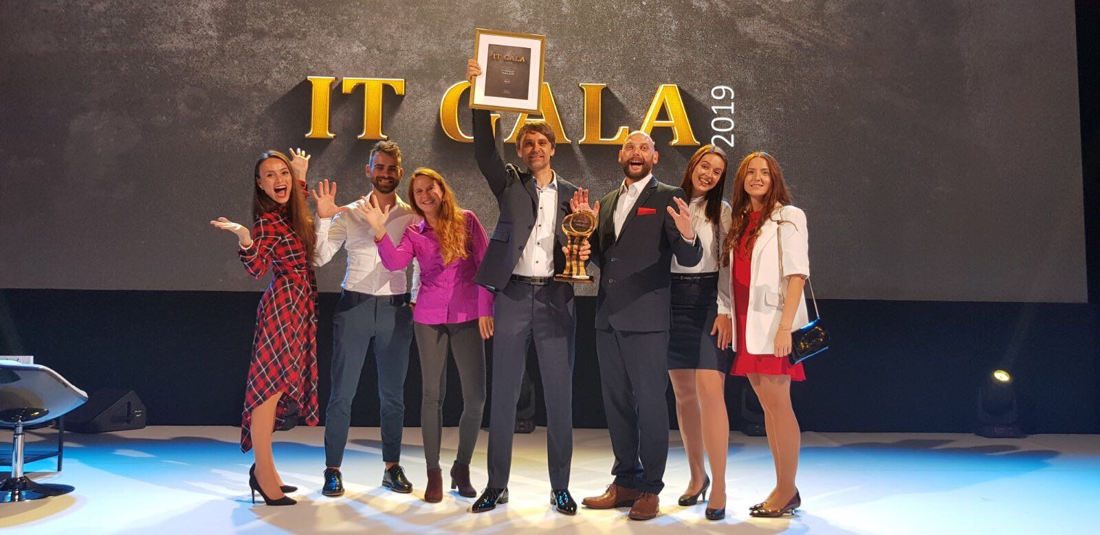 A New Investment and the IT Product of the Year IT GALA the team