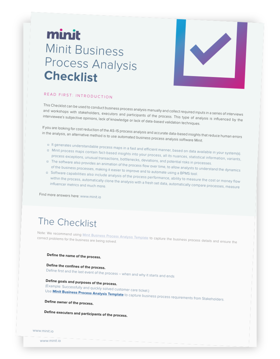 Free download business process analysis checklist minit checklist finalg wajeb Image collections